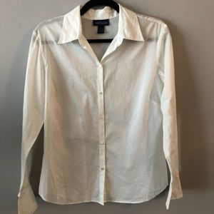 Ann Taylor Crisp White Classic Button Up Shirt